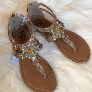 7768462db7f Daisy Fuentes beaded sandals size 7W